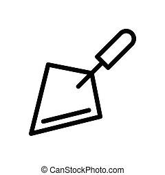 trowel thin line icon