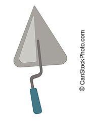 Trowel vector cartoon illustration.