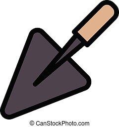 trowel vector color line icon