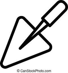 trowel vector thin line icon