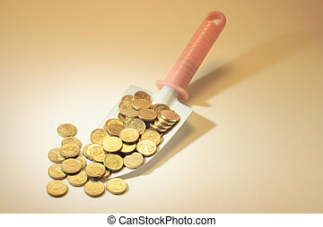 Trowel with Coins