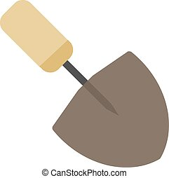 Trowel, work, metal icon vector image. Can also be used for ...