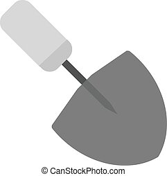 Trowel, work, metal icon vector image. Can also be used for...