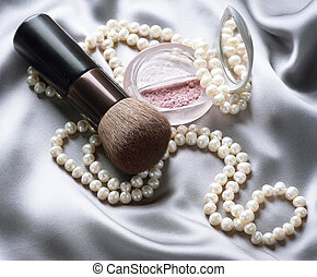 trucco, accessori, make-up.