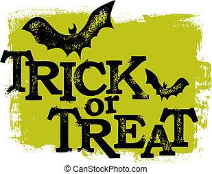 trucco, halloween, o, trattare