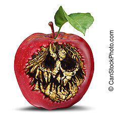 trucizna, jabłko