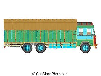 truck., ごみ