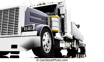 Truck - A blue truck isolated on a white background