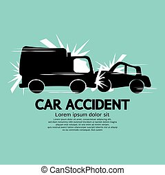 Truck And Car In An Accident.