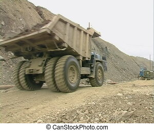 Truck and excavator  - Strip Mining.