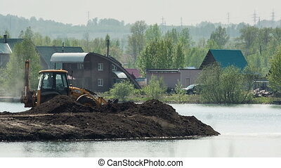 Truck and loader - work of the truck and loader