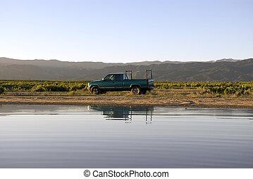 Truck at Lake