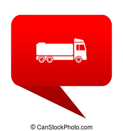 truck bubble red icon