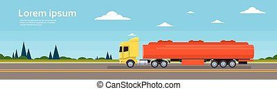 Truck Car On Road Cargo Shipping Delivery Concept Banner...