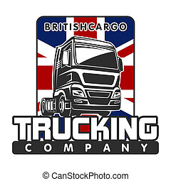 Truck cargo british freight logo template