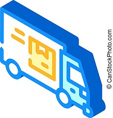 truck cargo delivering isometric icon vector illustration
