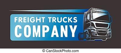 Truck cargo freight company logo template
