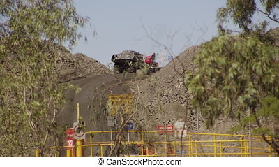 Truck carrying gravel - A shot of a truck carrying gravel....
