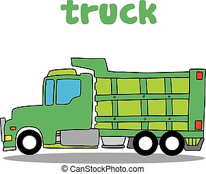 Truck cartoon design vector art