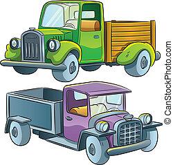 Truck Collection - cartoon illustration of medium truck