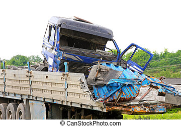Truck collision - Fatal traffic accident with truck and...