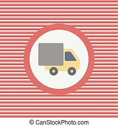 Truck color flat icon