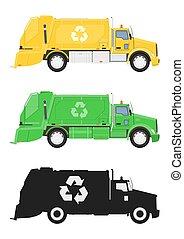 truck., déchets