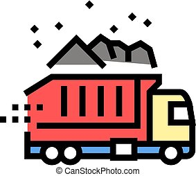 truck delivery color icon vector illustration