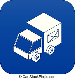 Truck delivery icon blue vector