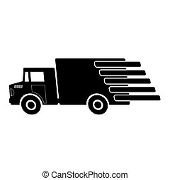 Truck Delivery Icon Isolated on White Background