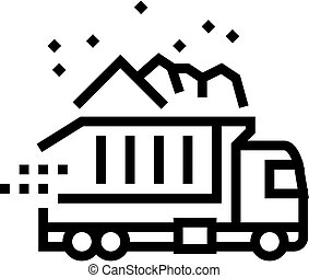 truck delivery line icon vector illustration