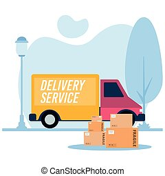 truck delivery logo