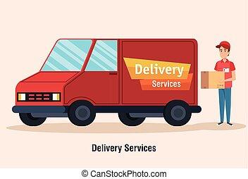 truck delivery service icon