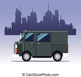 truck delivery town cargo