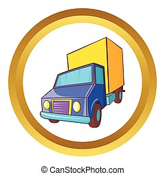 Truck delivery vector icon