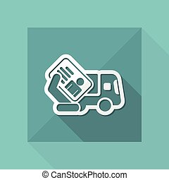 Truck document icon