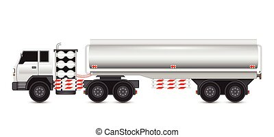 Truck - Illustration of heavy truck and chemical tank.