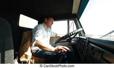 Truck Driver Delivering Freight
