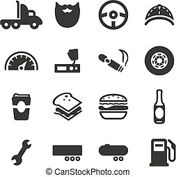 Truck Driver Icons - This image is a illustration and can be...