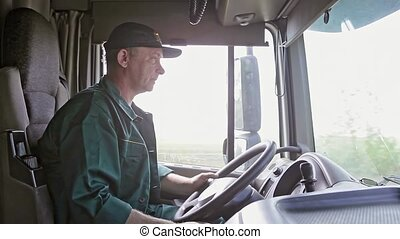 Truck Driver in the Car