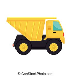 truck dump cargo icon vector - truck dump construction...