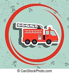 truck fireman rescue fire
