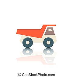 Truck flat icon, vector illustration.