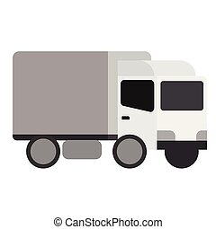 Truck flat illustration