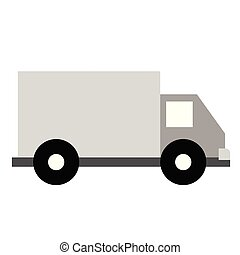 Truck flat illustration on white