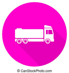 truck flat pink icon