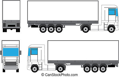 Truck for branding - Truck prepared for branding - 4 views