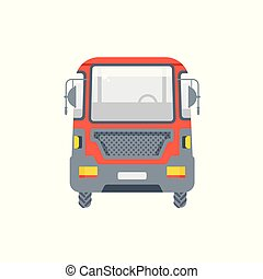 truck for oil, petrol illustration front view