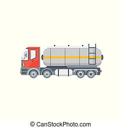 truck for oil, petrol illustration side view