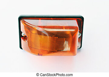 truck front turn signal lamp with a yellow plastic glass